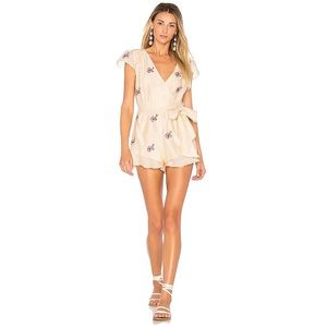 TULAROSA Ashby Romper Shell Floral Embroidered S